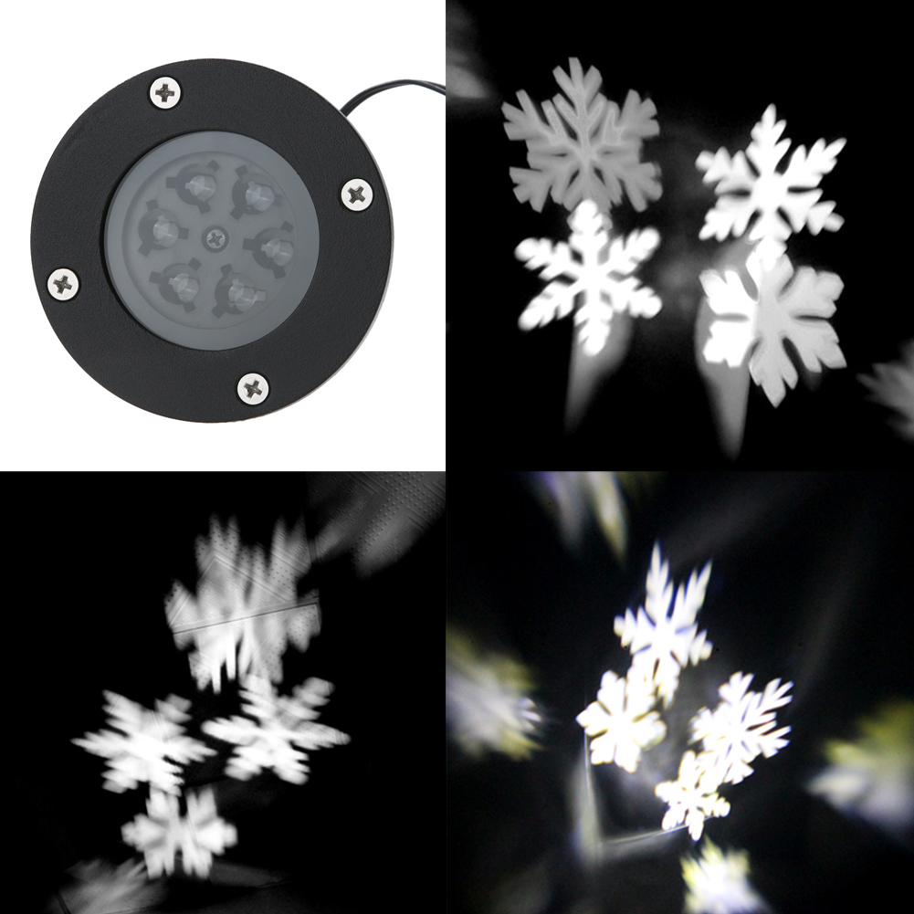 Waterproof Outdoor Moving Snowflake Laser Projector Landscape effect Lamp Festival Christmas Garden Lawn LED Light  US/UK Plug