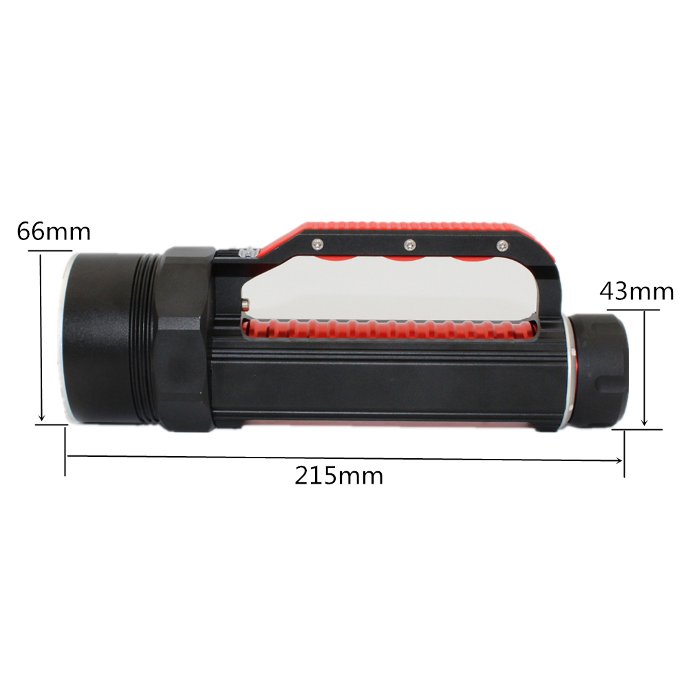 LED diving flashlight UV light 6 * UV LED 1800 lumens Waterproof underwater scuba torch for find scorpion or amber