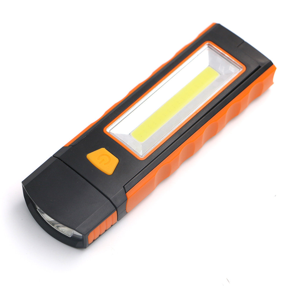 New arrival portable COB LED Flashlight Magnetic Working Inspection Lamp Pocket Light Hook Light linterna led Powered by 4AAA
