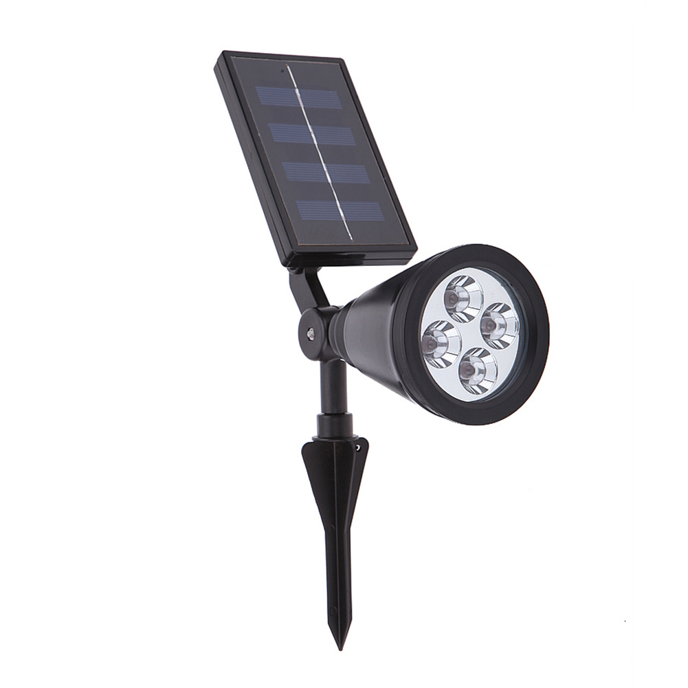 High Power Solar Lawn Lamps 4LED Waterproof Outdoor Lawn Energy Saving Light for Pathways Driveways Gardens