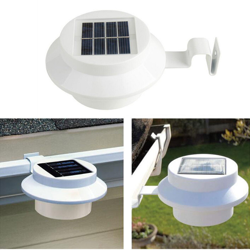 2pcs/lot Solar Power Led light Garden Decoration Light Home Outdoor Lighting Wall Lamps for Patio Path Gutter Fence Pathway