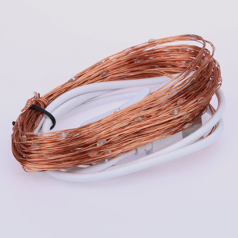10M 100 LED Copper Wire Fairy String Lights lamp Outdoor/ Indoor USB 5V for Christmas Holiday Wedding Party Decoration