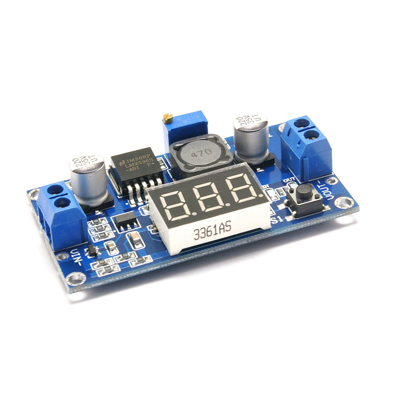 LM2596 LM2596S Voltmeter ADJ DC-DC Step-down Step Down Adjustable Power Supply Module With Digital Display