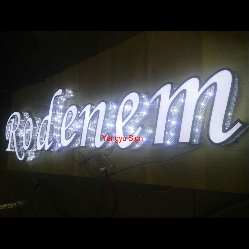 Waterproof acrylic 3D LED letters signs portable led open sign board
