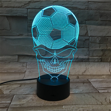 World Cup Soccer Small Desk Lamp Creative 3 d face football small night light gradient LED visual light acrylic gift lamp light
