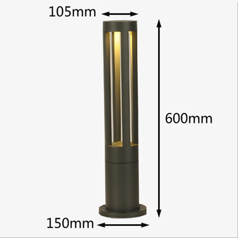 Garden Lawn Light Modern Outdoor Landscape Lamp Villa Grass Lighting Waterproof 60cm Tall