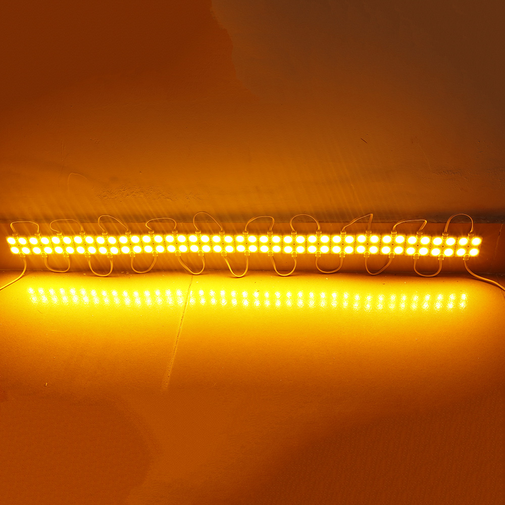 20PCS/Lot 4Leds Led Module 5630 SMD DC12V Waterproof IP65 White Square Led Module Injection Molding For Backlighting 6 colors