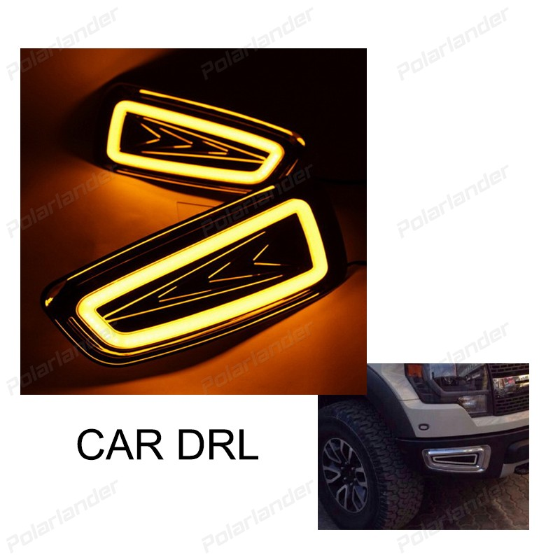 2 pcs car accessory drl led Daytime running lights Car styling for F/ord F150 2010-2015