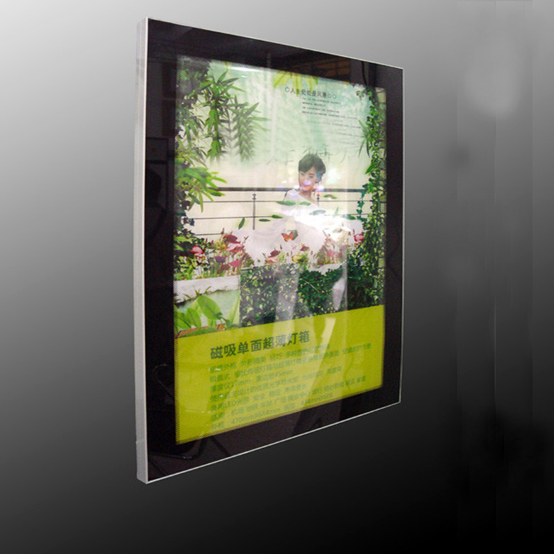 A1 Single Side Aluminum Frame Magnetic Led Light Boxes, LED Backlit Displays for Cafe,Tea,Hotel,Restaurant etc
