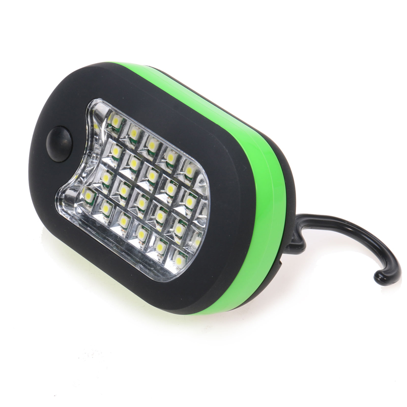 LED Night Light 24 + 3 LED Flashlight Multifunction Work Light Flashlights with Magnet & Rotating Hanging Hook for Outdoors