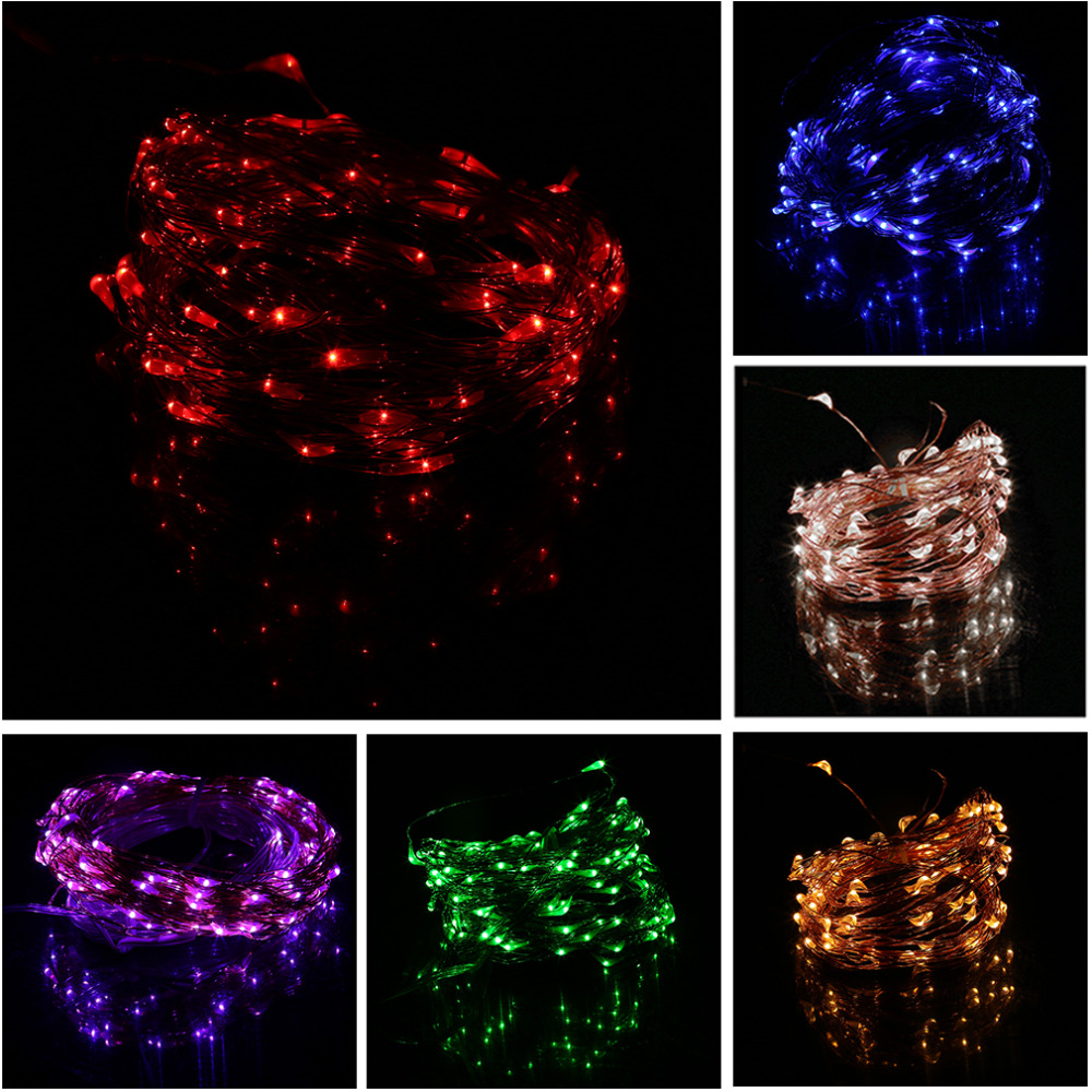 High Quality 10M Super Long 100 LEDs Copper Wire Lights 8 Modes Indoor Outdoor Home Decorative Wedding Party String Light