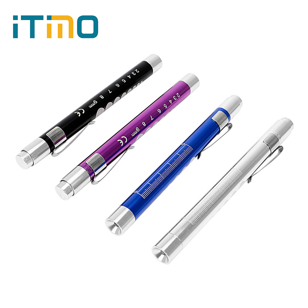 ITimo Mini LED Flashlight Powerful First Aid Torch Lamp Portable For Doctor Nurse Medical Pen Light Emergency Camping Light