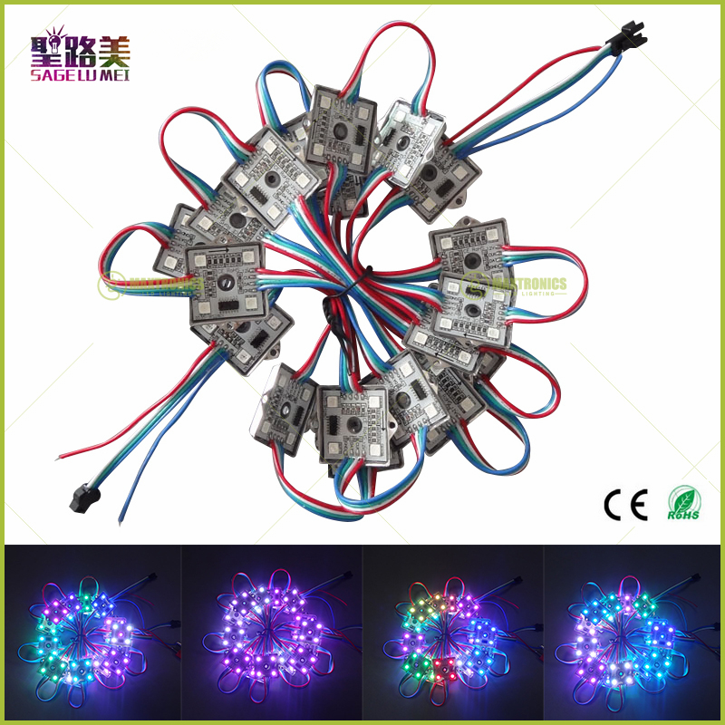 500pcs SPI Waterproof WS2801 LED Pixel Module 4x 5050 RGB SMD & 1x WS2801 IC DC12V led string lights for Christmas Holiday Day