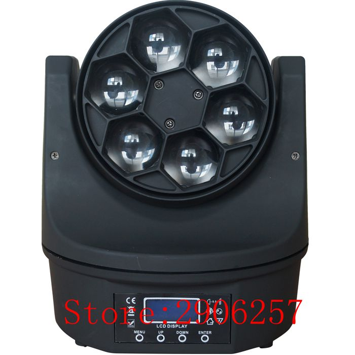 New Hot 6x15w Led Bee Eyes Moving Head RGBW 4in1 Stage Light  DMX 17Channels Mini Led Moving Head Beam Light  Stage Light  for