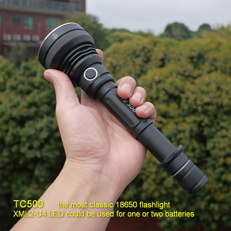 Amutorch TC500 CREE XM-L2 U4/XHP50/XHP70/10w/15w/20w/30w powerful LED flashlight tactical linterna torch 18650 flashlight