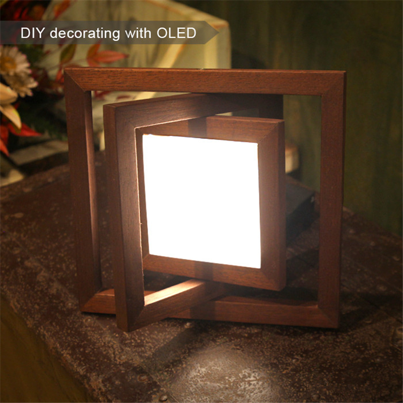 OLED Eye-cared 100*100mm square OLED Glass Panel Lamp Energy-saving 1.3w Ceiling Lights For Home Decoration  single Diy Kit
