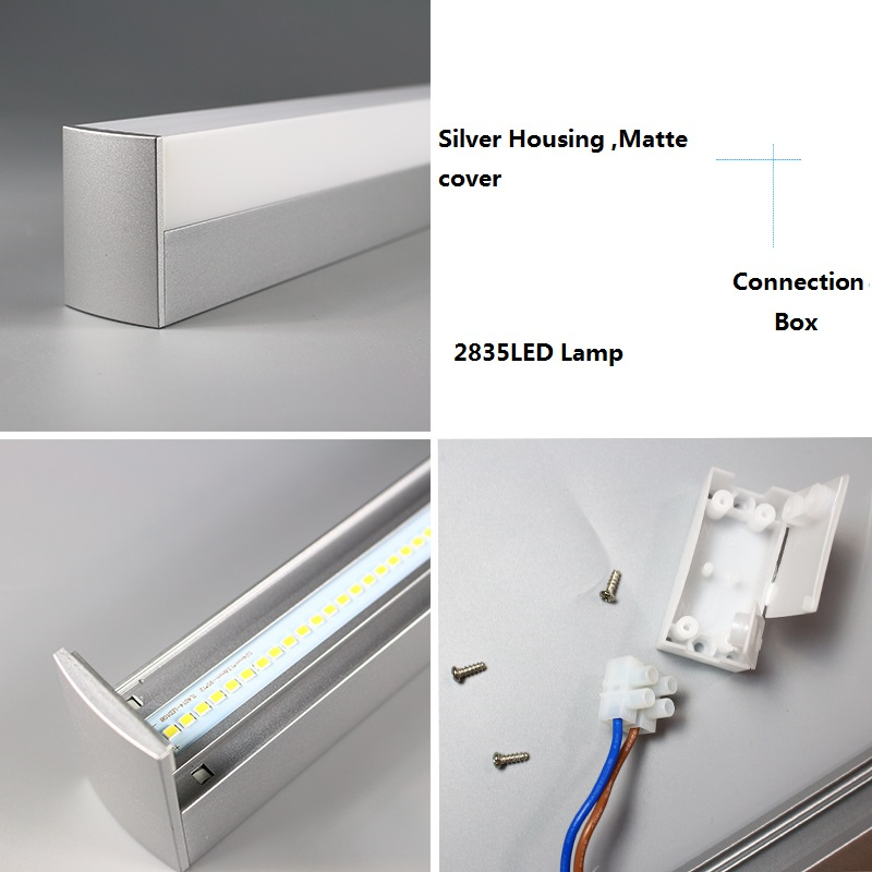 LED bar light 40cm 50CM 220V 3 side lighting for wash room ,cabinet ,wall mounted toilet table 8W-22W kitchen cupboard led tube