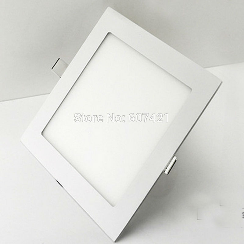 Square Recessed Ceiling Panel Down Light Ultra-slim Down Lamp for Dining Room, Living Room, Corridor,Conference Room and Office