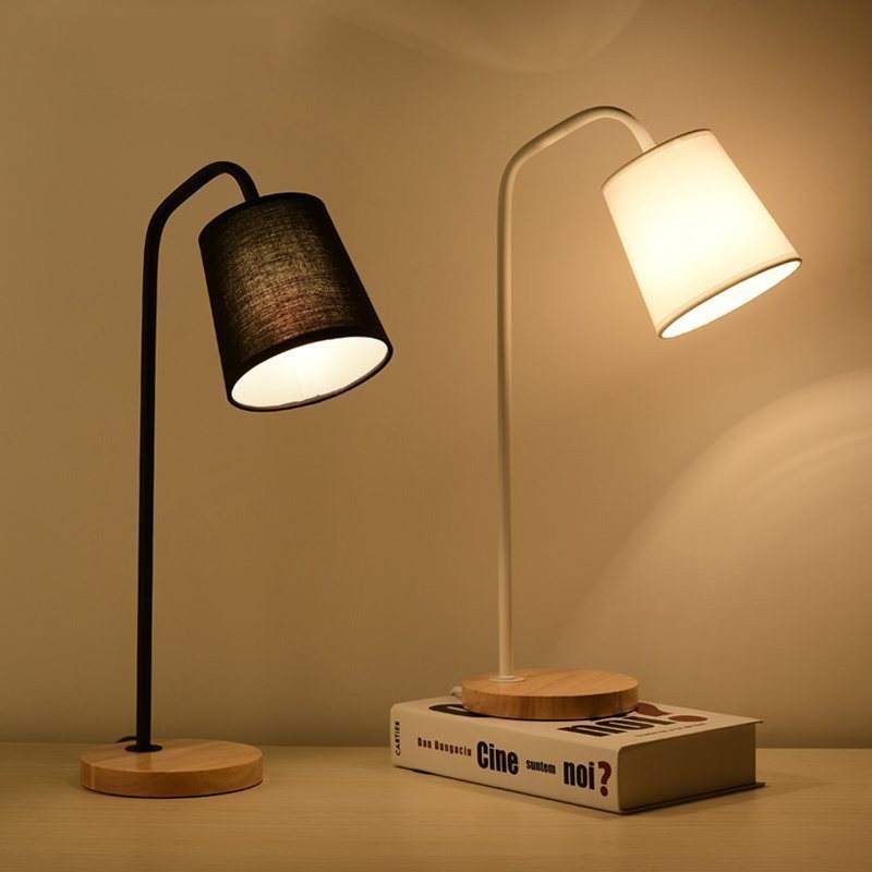 Professional Sale Horsten 110-220v Modern Bedside Bedroom Wooden Table Lamp Light Eu Plug European Style Bedside Lamp Table Light For Living Room Latest Technology Led Table Lamps
