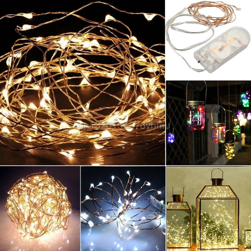 Outdoor Garden Decoration String Fairy Fantastic Light Battery Operated Xmas Light Party Wedding Garden Decor Lamp YX# #L057#