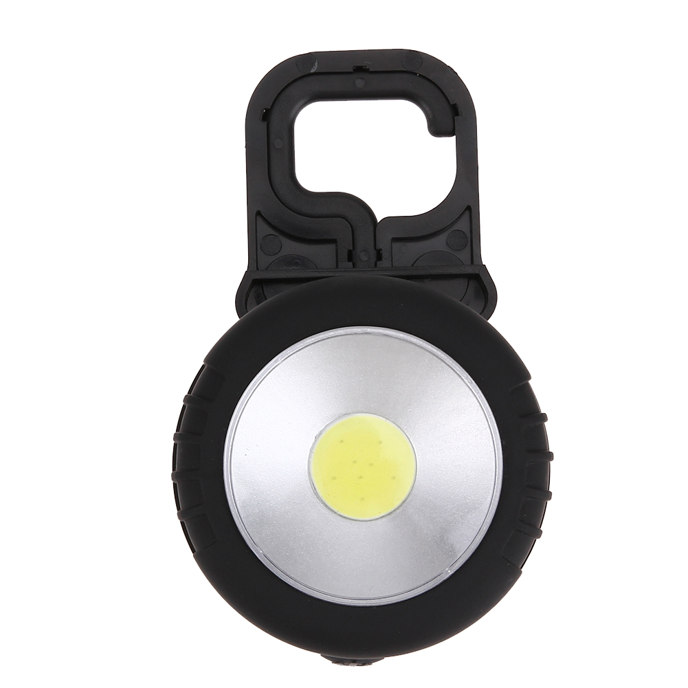 Multifunctional Battery Powered COB LED Magnetic Flashlight with Pothook