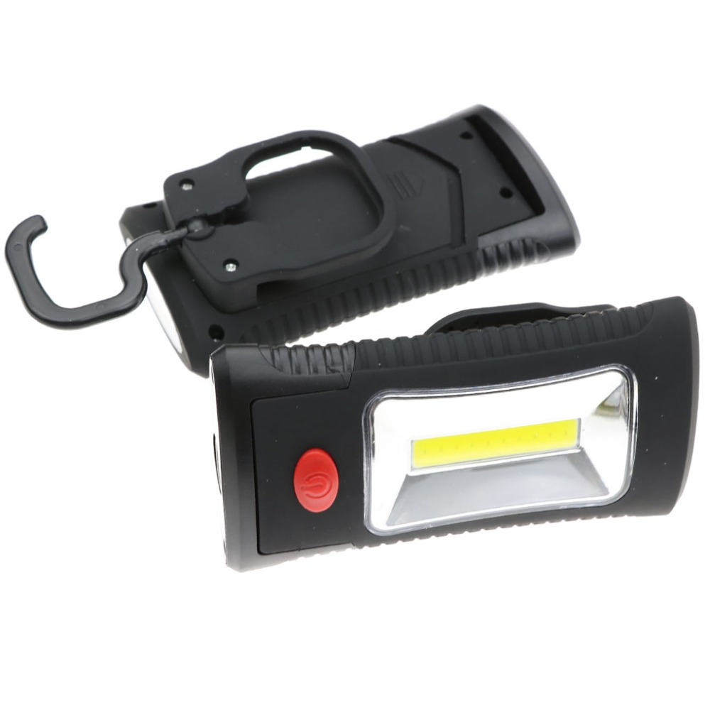 szKosTon Portable Multifunctional COB LED Work Lights with Magnetic Folding Hook Flashlight Lanterna Lamp using 3*AAA Battery