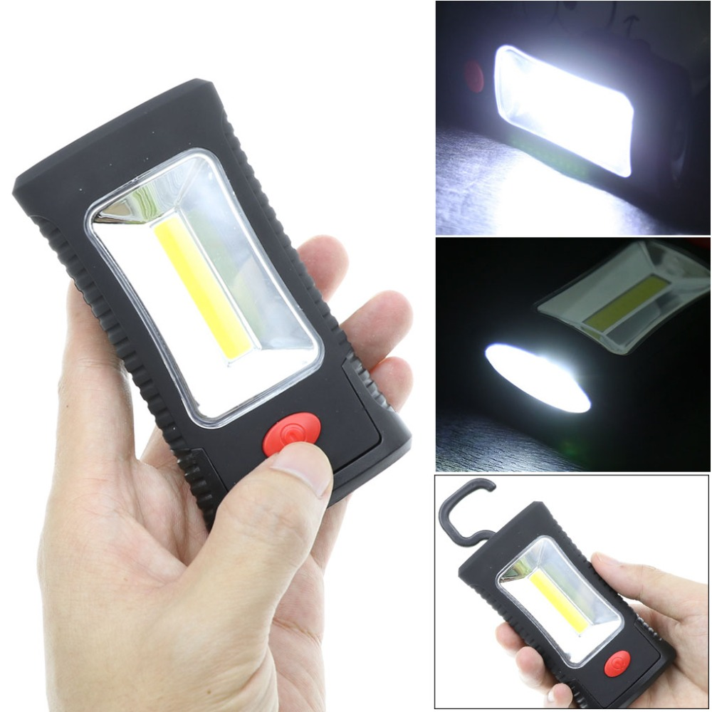 02Multifunctional Portable COB LED Magnetic Folding Hook Work Light