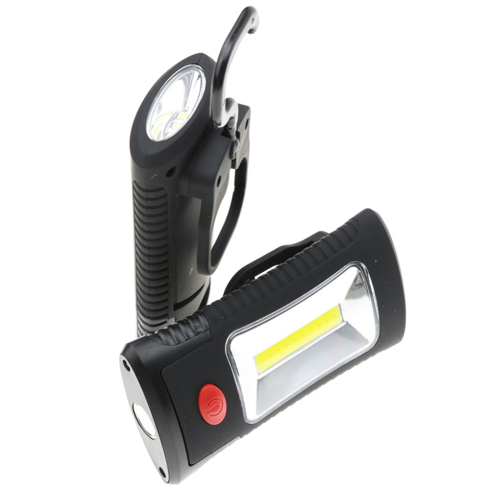 10Multifunctional Portable COB LED Magnetic Folding Hook Work Light