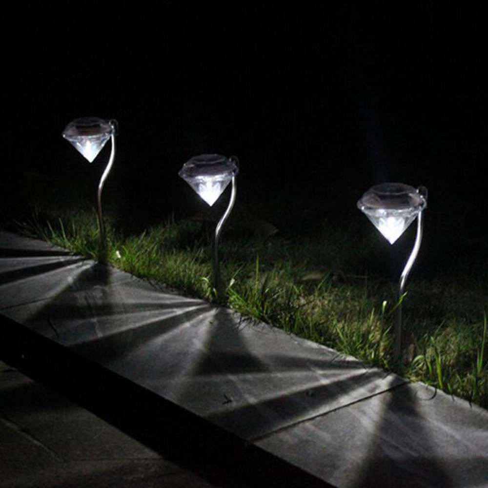 Waterproof Lawn  Solar Yard Garden  led Lamps RGB Diamond Landscape Lamp LED Diamond  Solar Powered Outdoor Path Light
