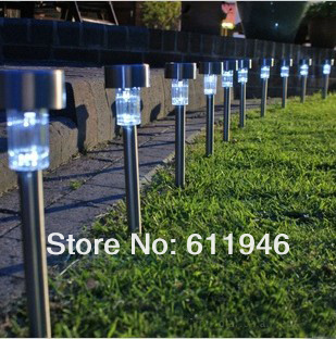100pcs/lot Solar Panel LED Spot Light Landscape Outdoor Garden Path Lawn Outdoor Solar Landscape Light Lamp Lawn SL-01GS