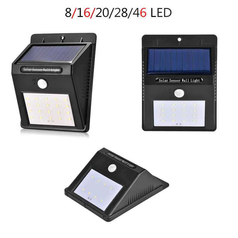 Solar Light 8/16/20/28/46 Led Outdoor Lamp Waterproof PIR Motion Sensor Solar Lamp for Energy Saving Light garden decoration
