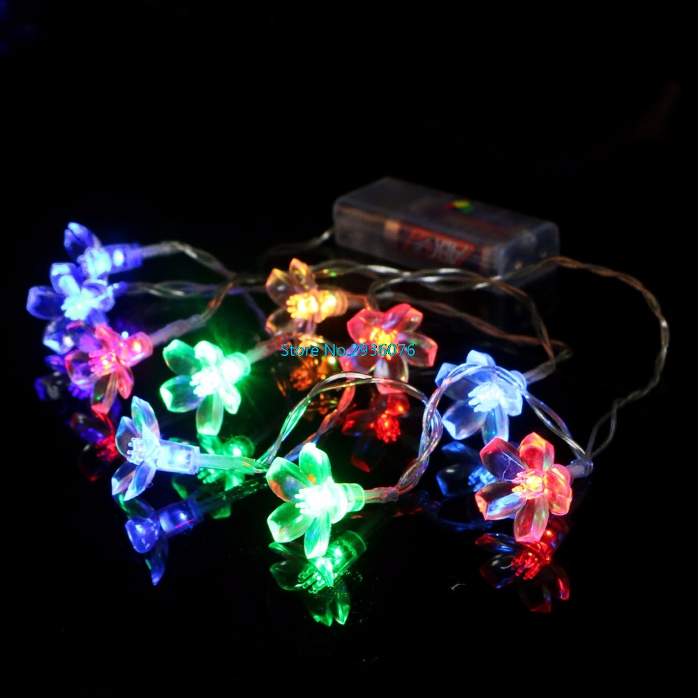 1.2M LED Fariy String Lights 10LED Battery Party Decor Blossom Flower Home Garden Party Festival Decoration MY15_30