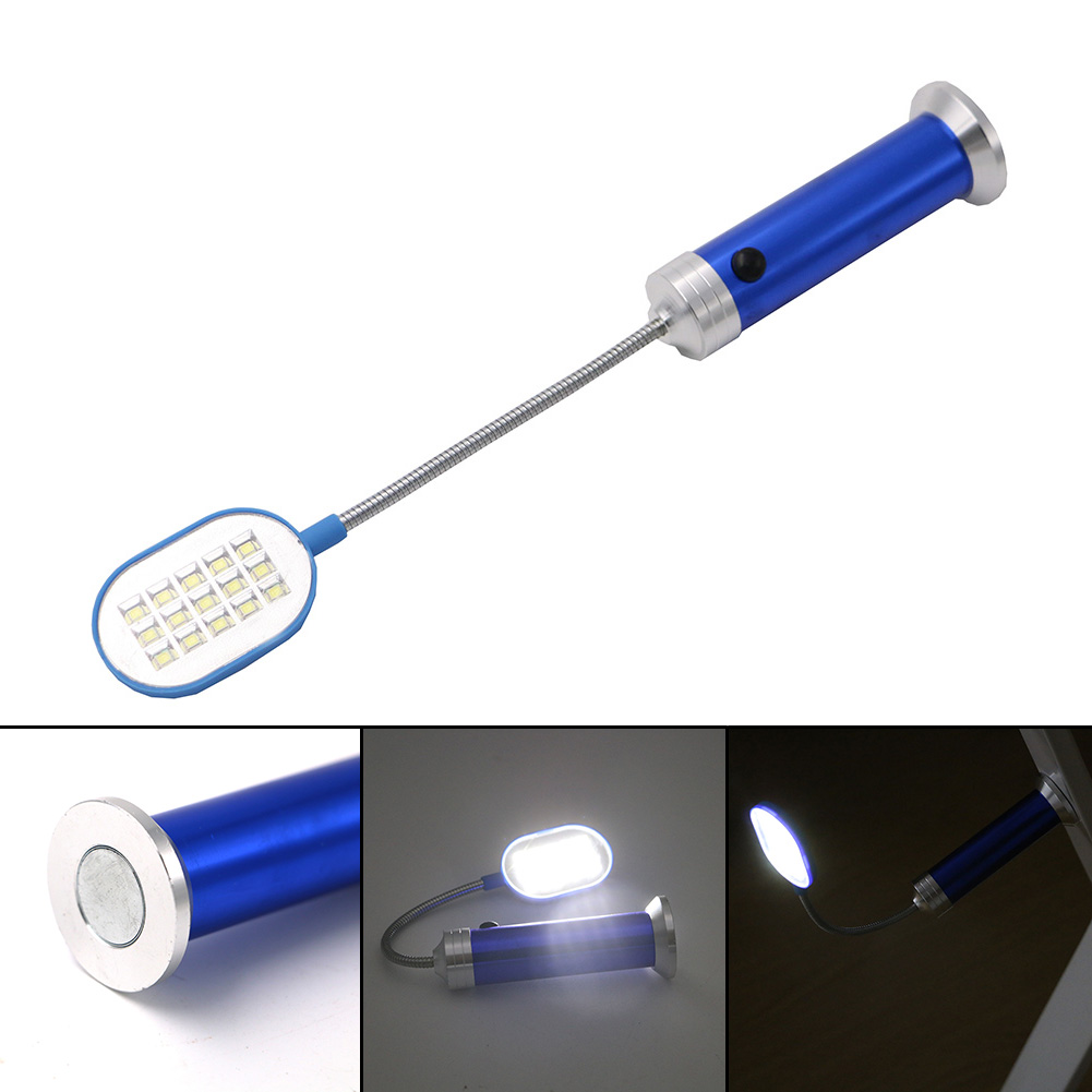 Flexible Flashlight 15 SMD LED Lights Lamp 300 Lumen Flashlight Lamp With Magnet Flashlight Torch Perfect for Working Home Use
