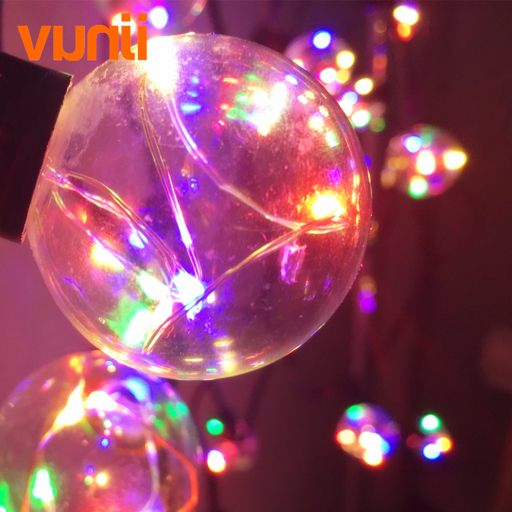 8M Retro Round G40 RGB Led String Light 25 Bulbs Guirlande Lumineuse Fairy Garland Light Waterproof for Wedding/Party/Xmas Decor