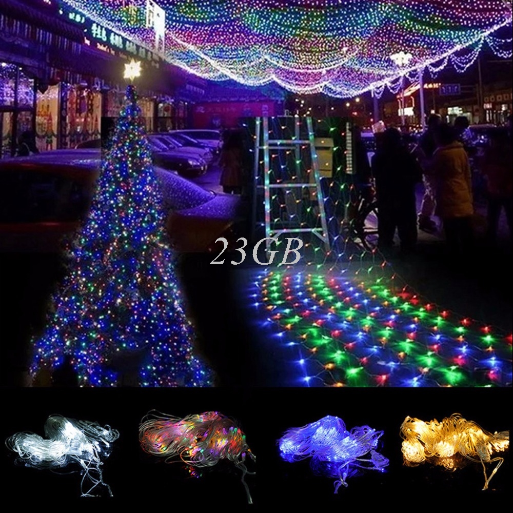 2017 NEW String Net Fairy Lights Christmas Wedding Party Indoor Outdoor 96LED 1.5M*1.5M MAY09_25