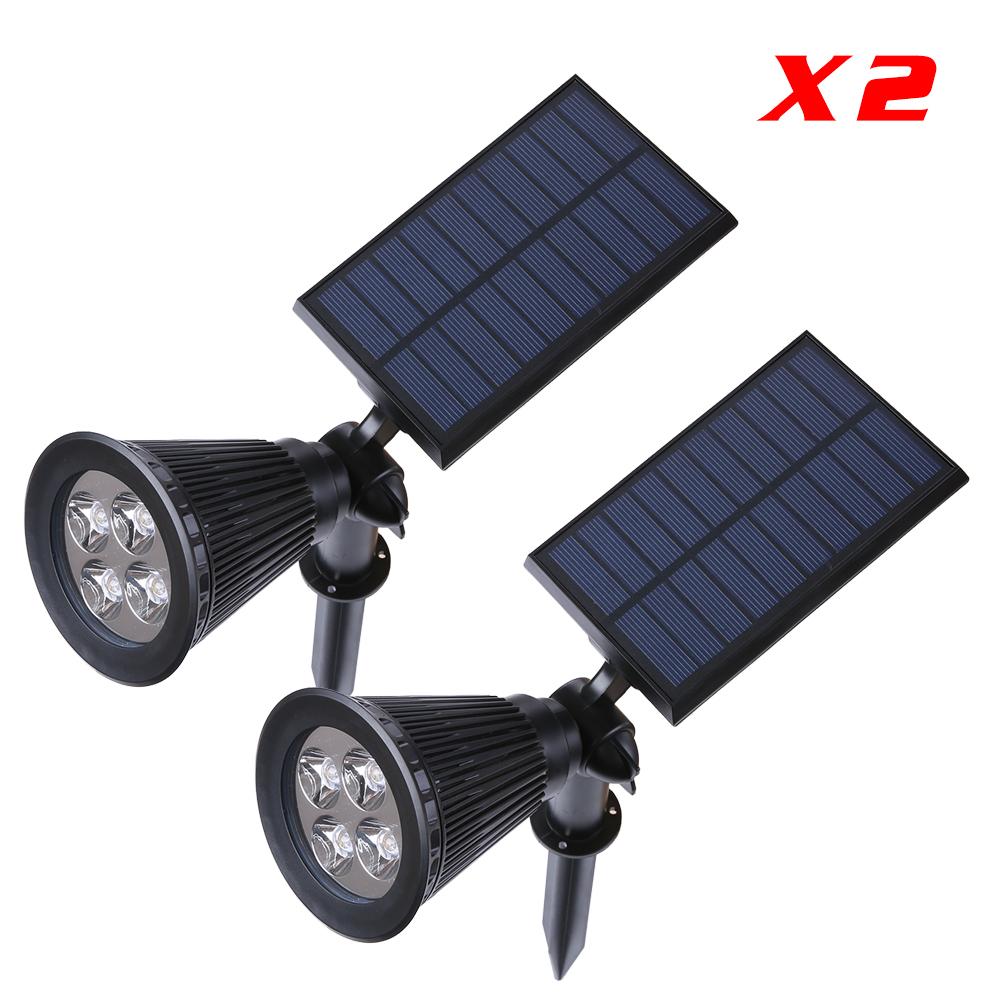 2 Piece Solar LED Spot Light