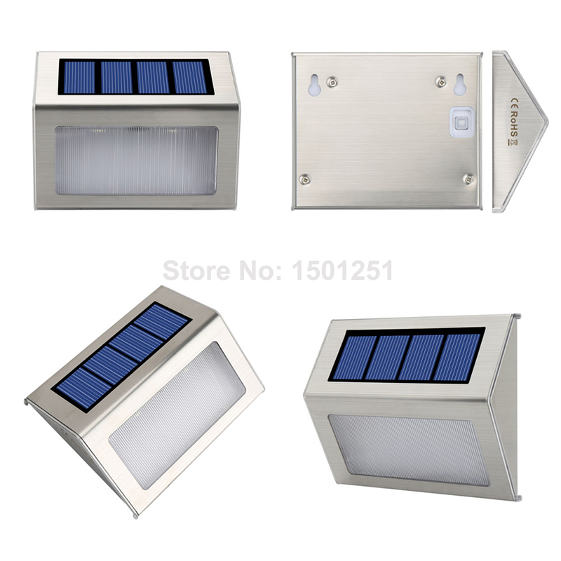 4pcs 2pcs LED Solar Lamp Waterproof IP65 Solar Light Power Garden LED Solar Light Outdoor ABS Wall Lamp