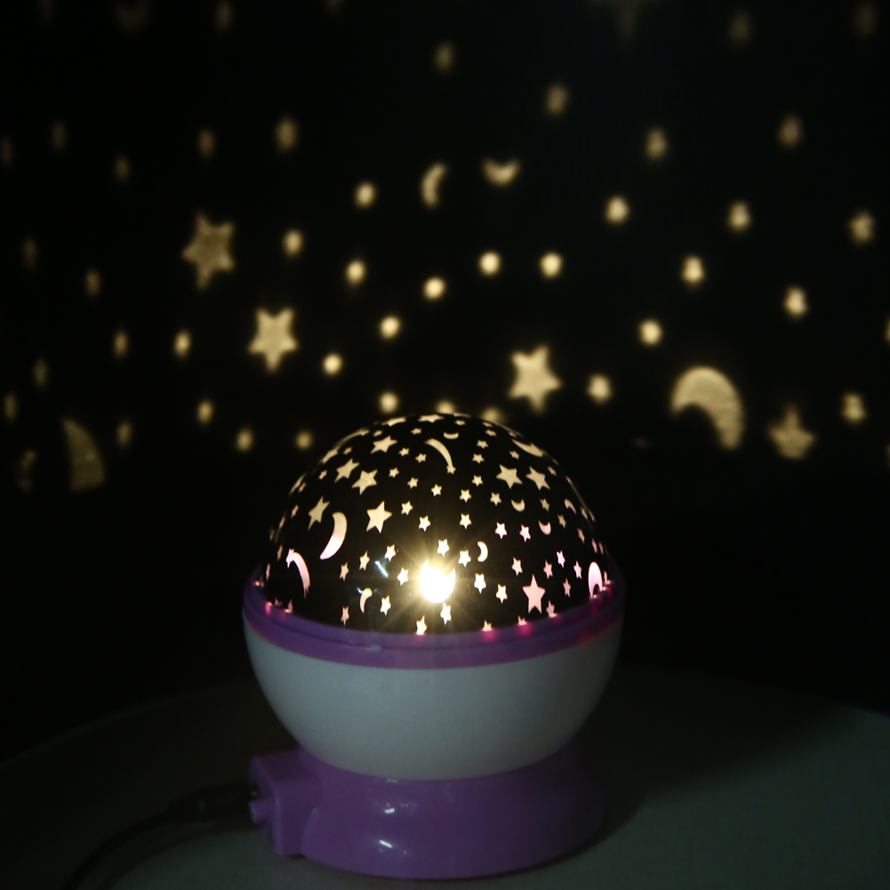 Best seller Romantic Rotation Star Sky Kid Luminous Light Lamp Night Projector Romantic Decoration Ball Holiday Night Light