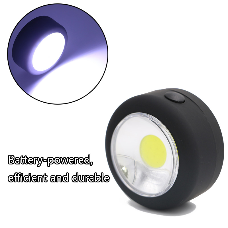 Portable COB LED flashlight Work Light Lamp Torch Linternas Lanterna with magnetic base+ hanging hook USE 3 AA batteries