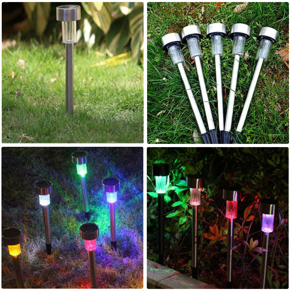 5pcs Solar Light for Garden Decoration Steel Outdoor Garden Lights Solar-powered Lamps for Holiday Home Yard