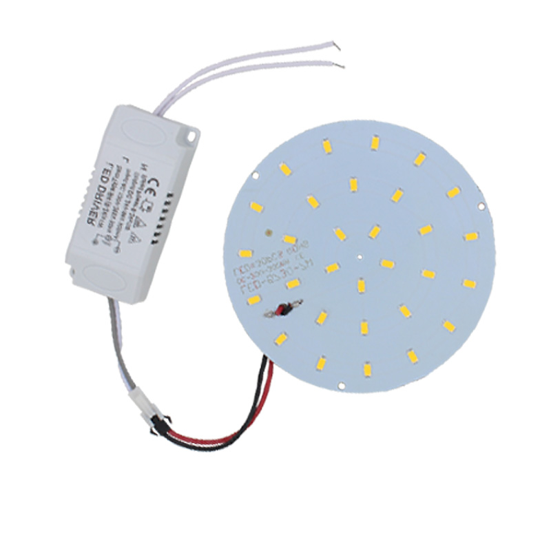 on Sale!180-265V LED Panel Lamp Round 10W 5730 SMD Warm/Cold White Magnetic LED Ceiling Panel Light Plate Aluminium Board