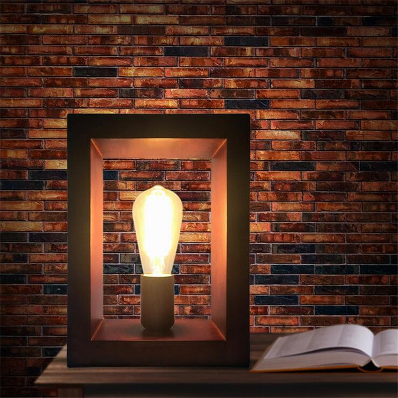 New Style Vintage Loft Wooden Table Lamp Wood Light E27 AC 110V/220V for Living Room Bedroom Study Room Bedside Home Decor