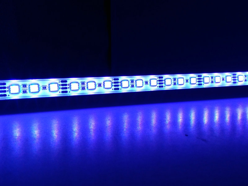 RGB LED Bar Light 5050 50cm IP68 SMD36LED LED Rigid Strip Swimming Pool DC 12V with Switch Power Adapter.
