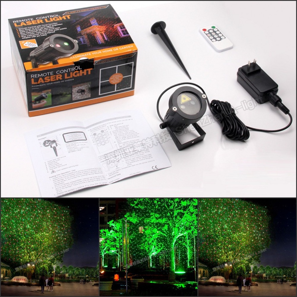 Tinhofire CPD-S Remote Control Sky stars R&G LED Stage Light Lamp Party Light Waterproof Garden Landscape Christmas Light