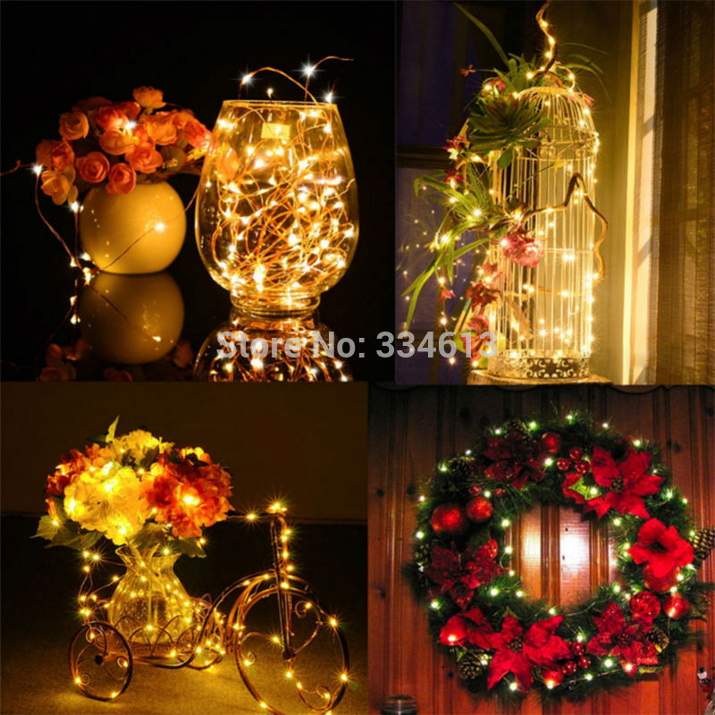 Corded 50M 164FT 500LED Outdoor String Lights Starry Fairy Silver Lights with Remote Control Christmas Wedding Holiday Lights