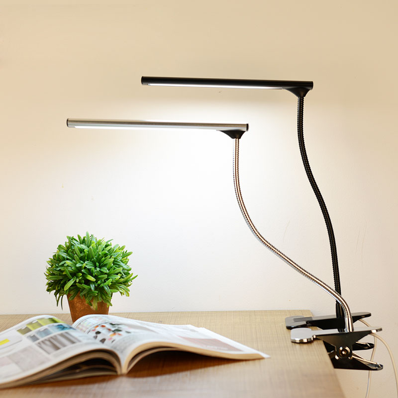 Simple USB LED Reading Desk Lamps Bedroom Bedside Book Lights Eye Protection led 3W Flexible Table Lamp With Clip USB Lightinmg