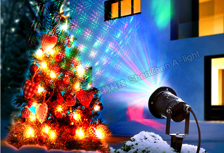 Remote Control Outdoor Stars LED Garden Lights IP65 Waterproof Green laser 30mw Red laser 100mw LED Lawn Light Lamp Garden Light
