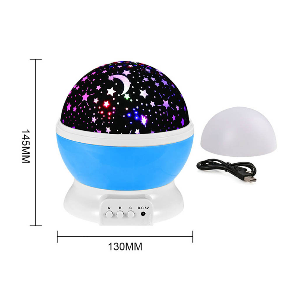 SANYI 4 LEDS Romantic Starlight 3 Push-Button Star Projector USB Night Light Sky Moon Star Master Projector Baby Sleep lighting