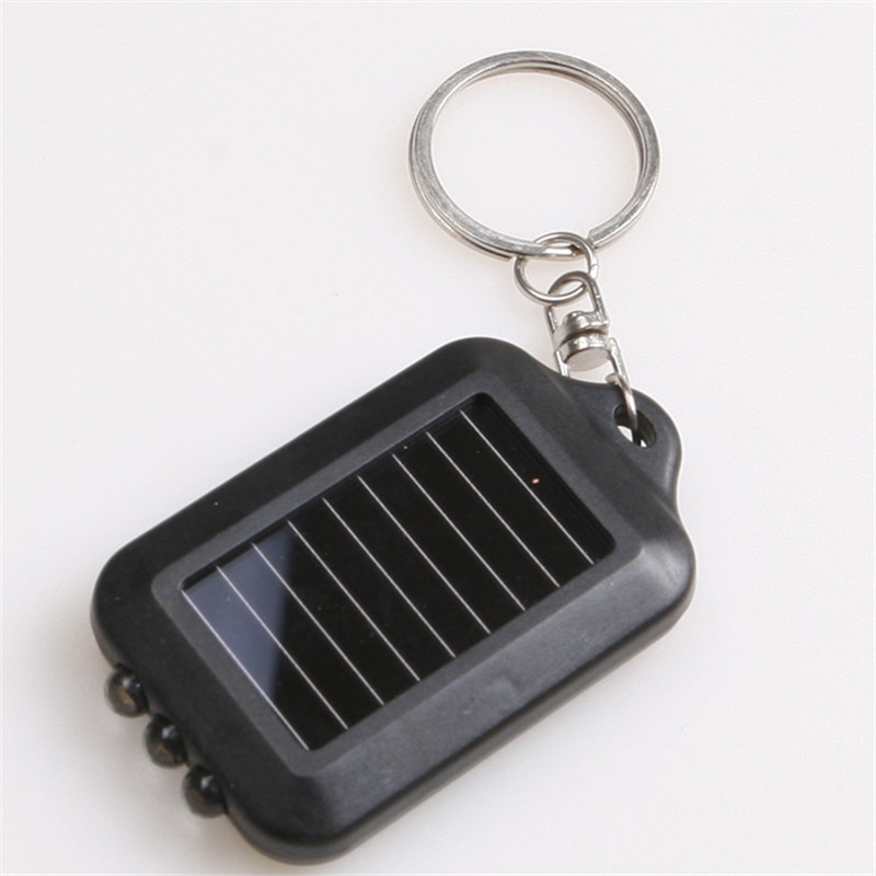 Multifunction 5/10PCS Mini Solar 3 LED Flashlight Metal Power Rechargeble Flashlights & Torches Keychain For Reading Lighting