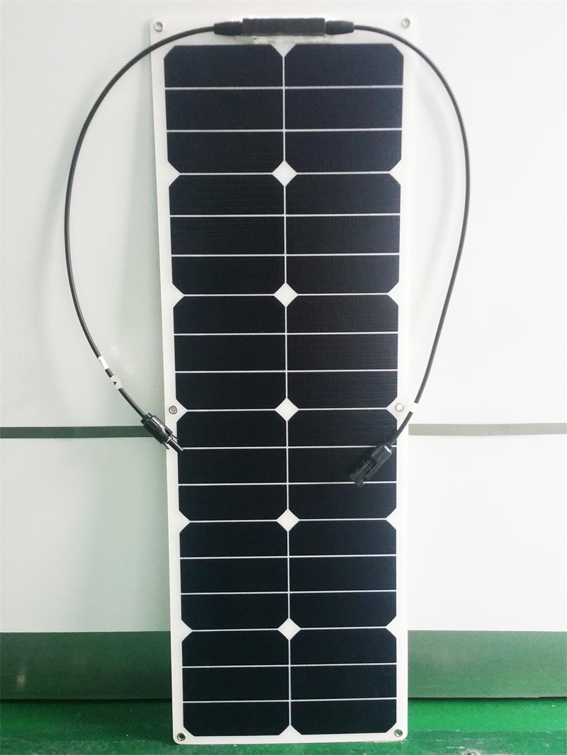Solarparts 1PCS 40W ETFE flexible solar panels cell modules for car yacht RV 12V  charger with junction box MC4 connector